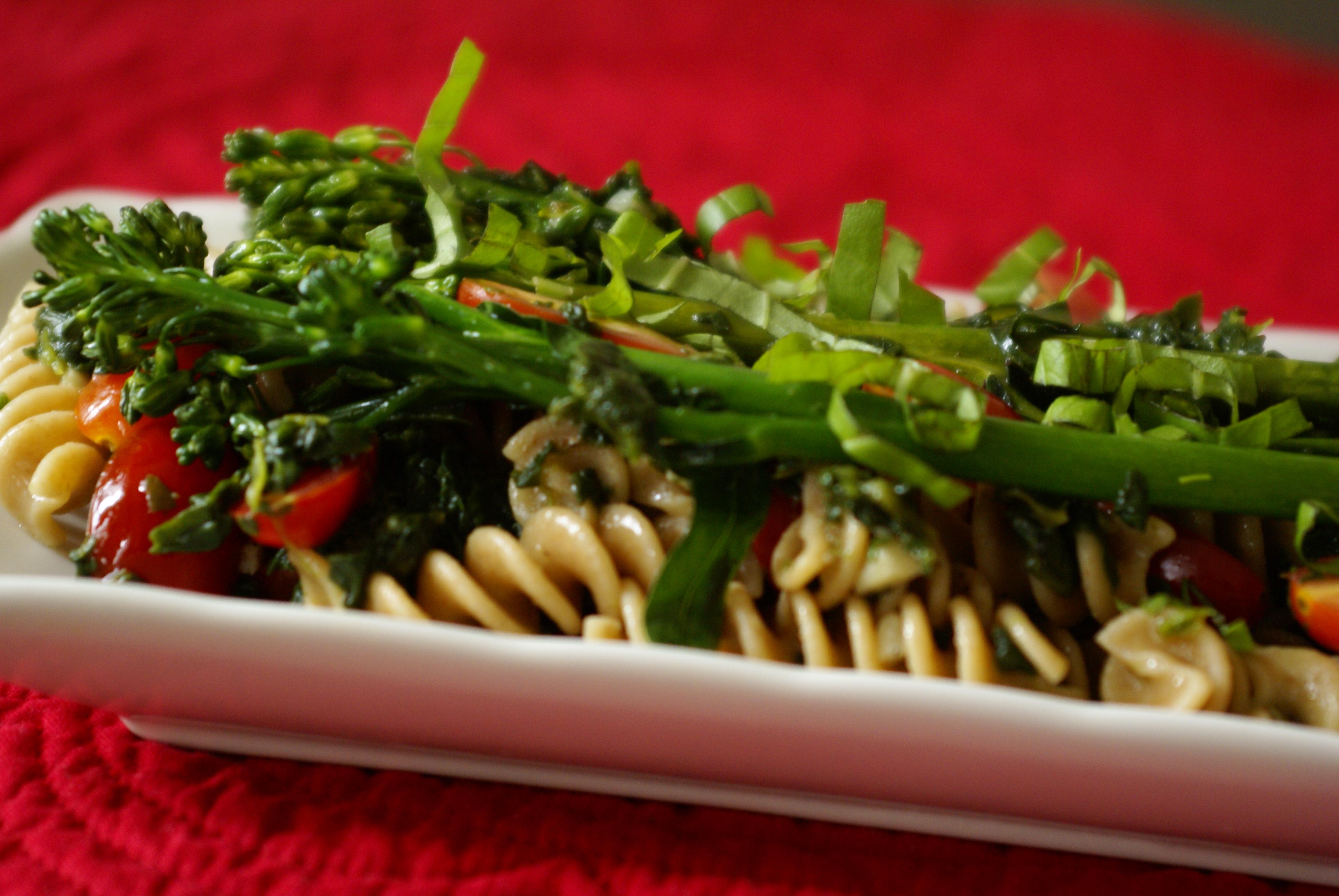 Broccolini and Spinach Pasta
