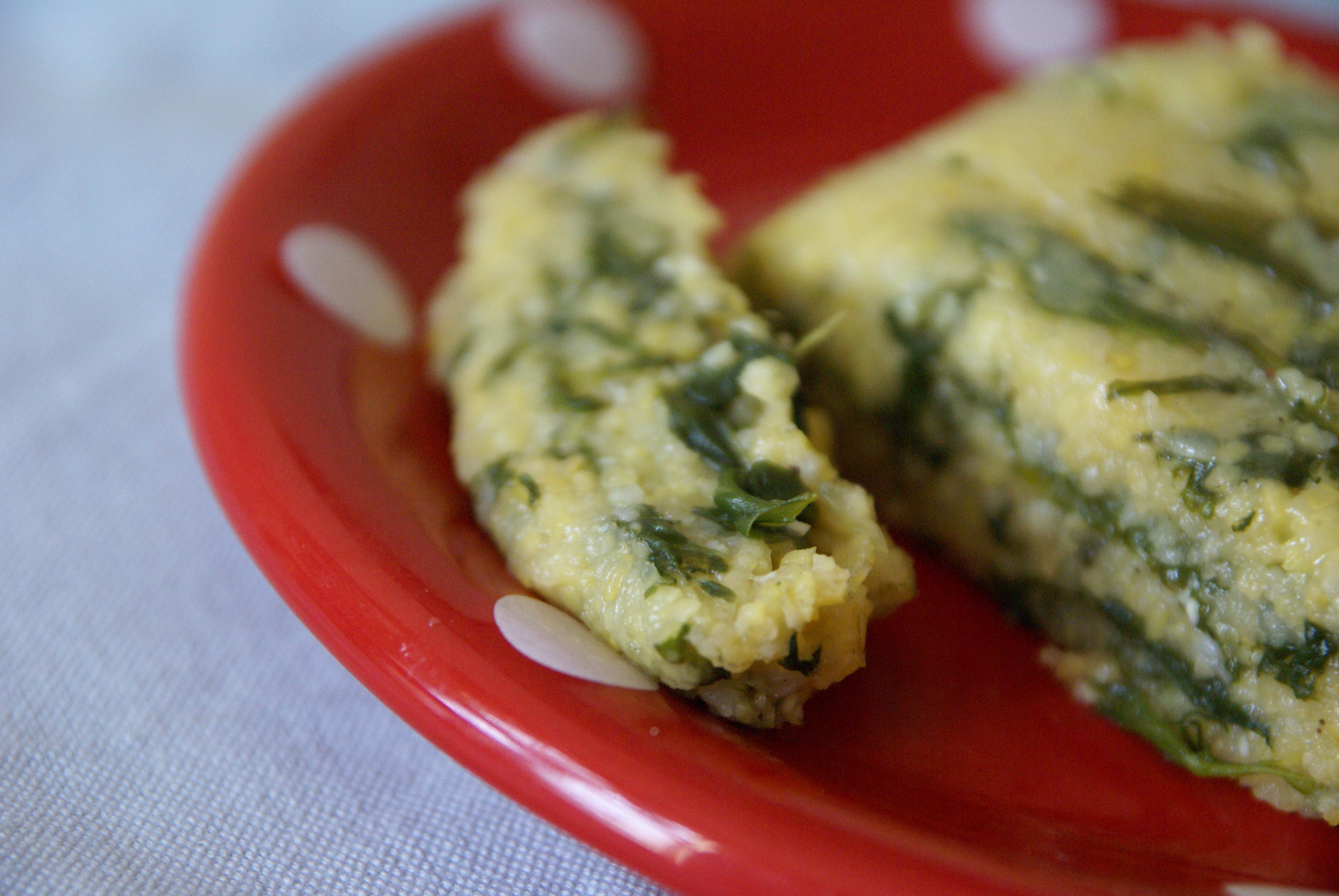 Spinach Polenta